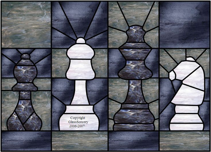 Chess Pieces color suggestion. Glass details at website.