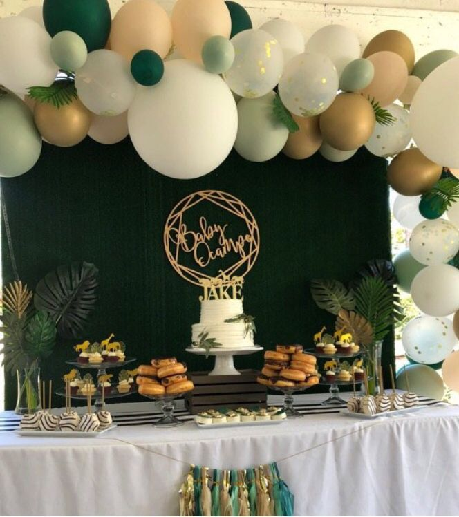 Green And White Balloons Light Green Wedding Decor Green And