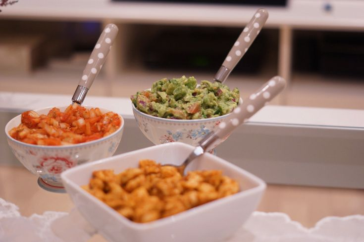 Taco, salsa & guacamole