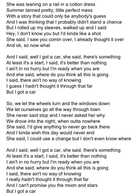 George Strait~ I Got A Car❤️ when songs are sent to me