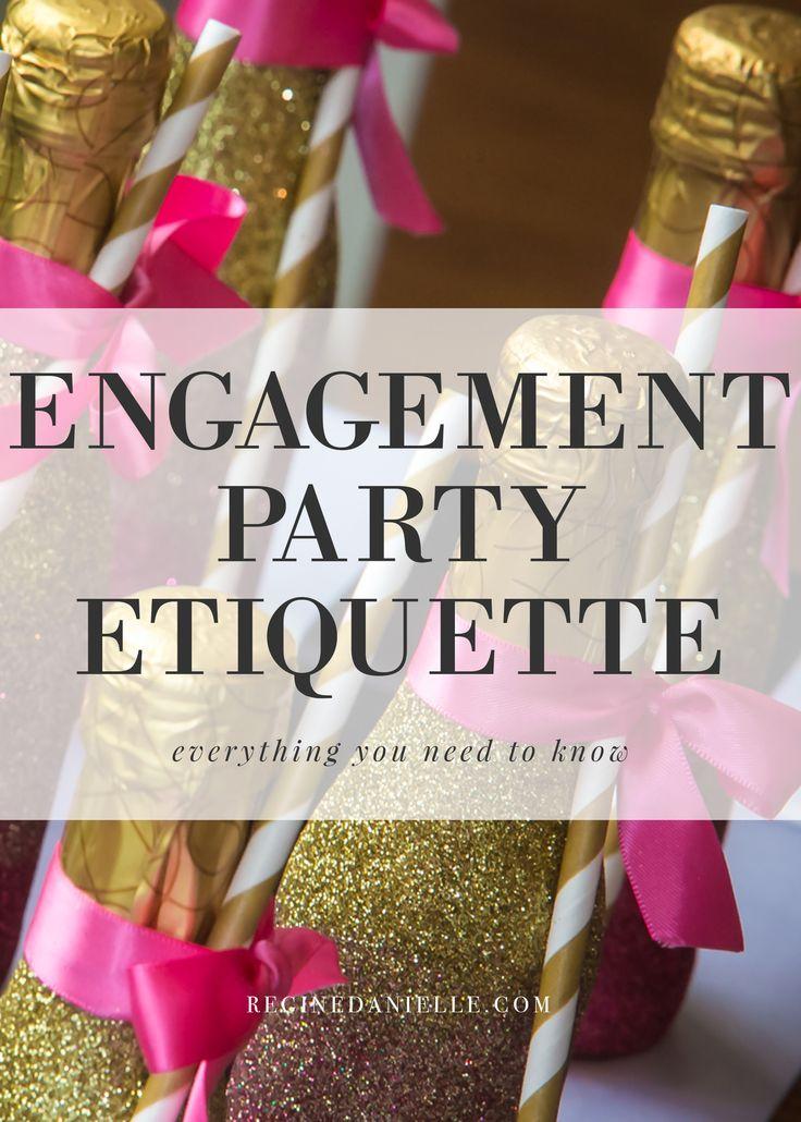 bridal shower invitations registry etiquette%0A Engagement Party Etiquette