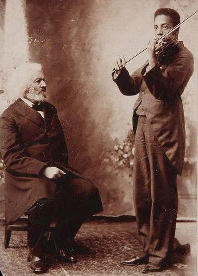 Frederick Douglass with His Grandson, Joseph, ca. 1890. | African Heritage City