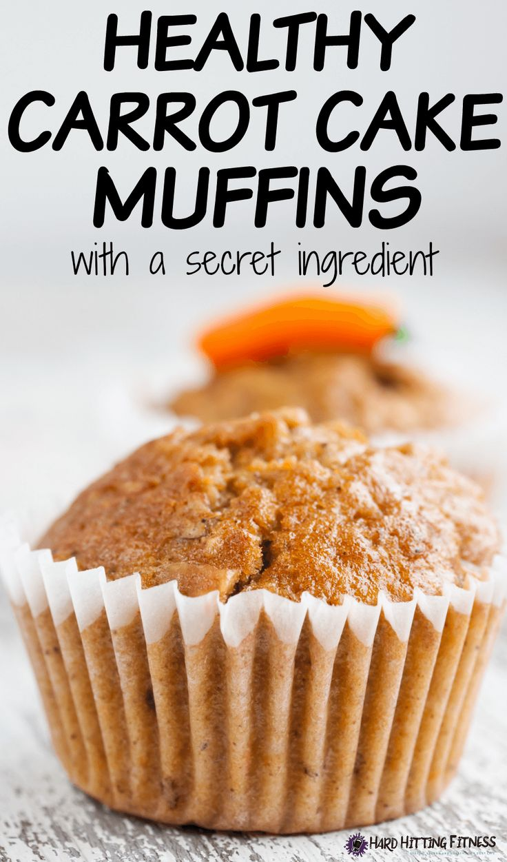 HEALTHY CARROT CAKE MUFFINS!