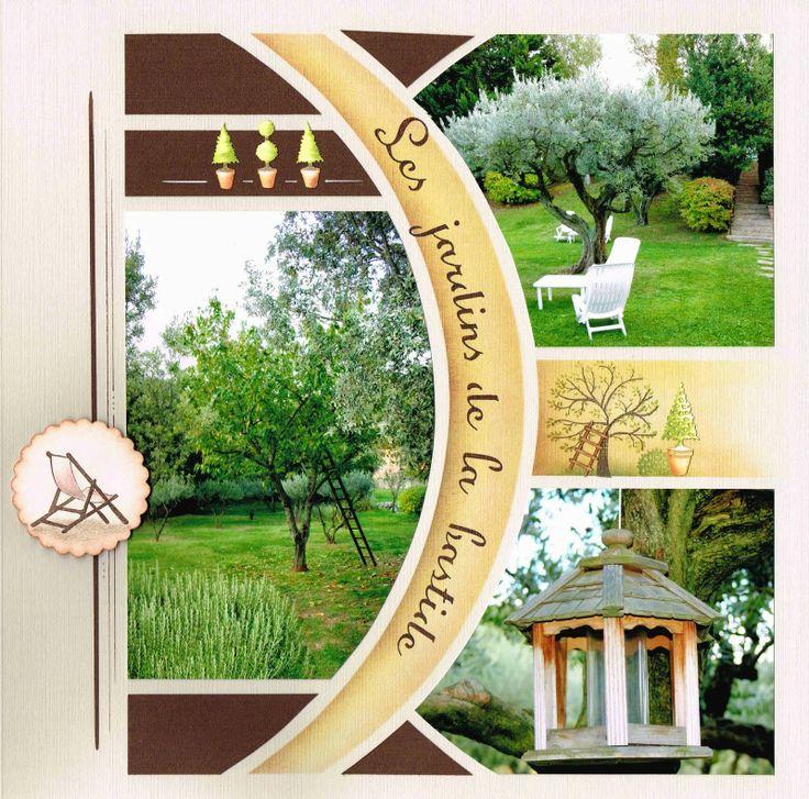 Les jardins de la Bastide mis en page avec le gabarit Lima sur 2 pages superposées. Voici la page simple.