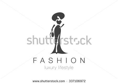 Fashion Luxury Glamour Elegant Woman silhouette Logo design vector template. Lady negative space jewelry accessories Logotype concept icon.
