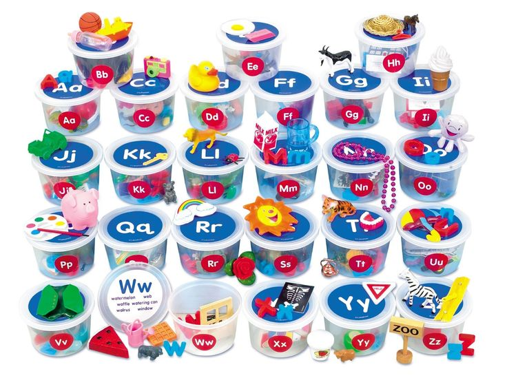 Amazon.com: Alphabet Sounds Teaching Tubs: Toys & Games ...