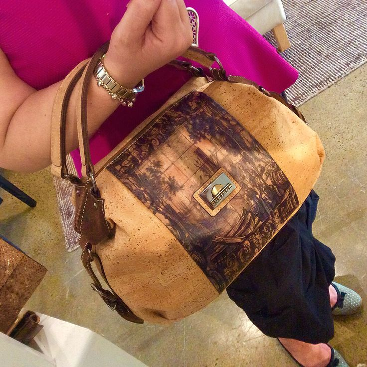 Cork Leather handbag by Montado.