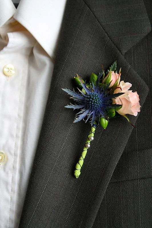 Eryngium, a personal favourite - Makes great boutonnières for men and a perfect touch for any blue & purple themed weddings