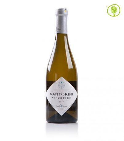White Wine Assyrtiko!  From the variety of grapes, Assyrtiko, which are cultivated in the vineyards of Santorini, comes this unique wine with the bright yellowish-white colour. Find it here: http://bit.ly/1joBfsg