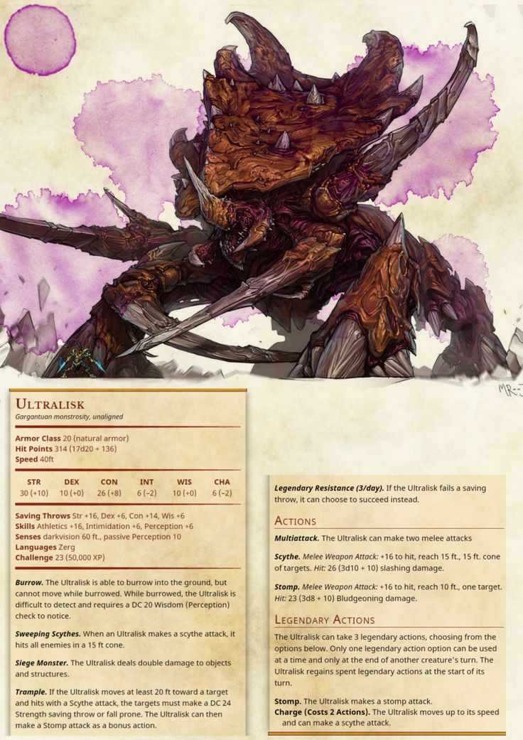 DnD 5e Homebrew — BoltNine Homebrew Monsters