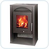 Blaze, A06, wood burning, combustion Fireplace. 50 m sq