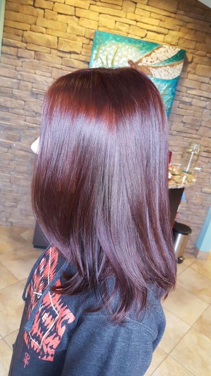 Merlot Hair, Red Violet brown hair