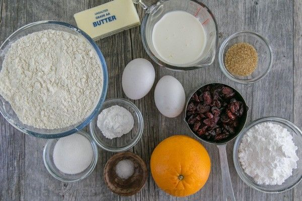 Cranberry Orange Scones recipe - billow soft, crumbly and so easy! | natashaskitchen.com