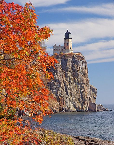 Split rock lighthouse in Minnesota.  Love it!  I've been there -- it is really cool!