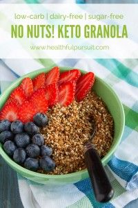 No Nuts! Keto Granola Dust #lowcarb #sugarfree #dairyfree #nutfree