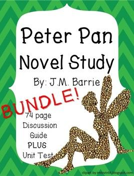 This is a full novel study for JM Barrie's Peter Pan. Easy to follow and NO PREP!! You will receive a smart notebook file to guide discussion in a whole class or small group setting. Each chapter will take around 40 minutes to complete, thus you receive at least 17 days of lesson plans!!