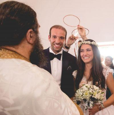 Mr & Mrs ! See more of this lovely greek wedding in Santorini http://photographergreece.com/el/photography/wedding-stories/465-a-lovely-greek-couple-in-santorini