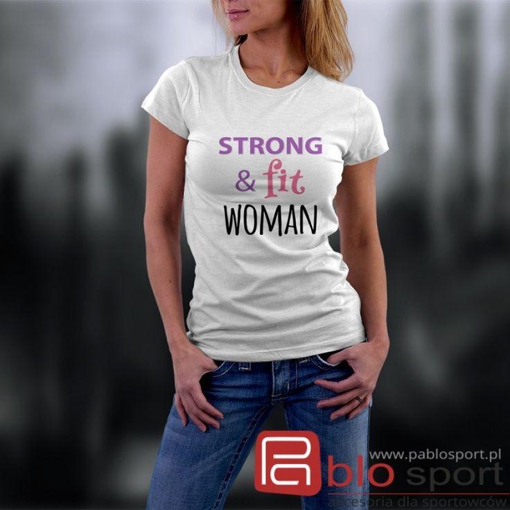 Damska koszulka JHK: Strong & fit woman 29 zł