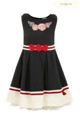 Uttam Kids Plain Bow Dress (3-10yrs)