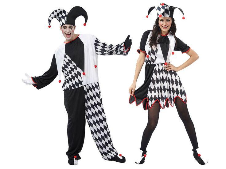Pareja Disfraces de Bufones  #parejas #disfraces #carnaval