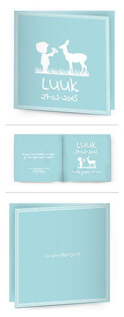 Bekijk de leukste kaartjes op onze site   http://www.kissgeboortekaartjes.nl   #baby #geboortekaartje  #kissgeboortekaartjes #Silhouet #hertje #blue