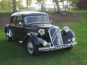 """The Traction Avant, French for """"front wheel drive"""", was designed by André Lefèbvre and Flaminio Bertoni in late 1933 / early 1934. While not the first production front wheel drive car – Alvis built the 1928 FWD in the UK, Cord produced the L29 from 1929 to 1932 in the United States and DKW the F1 in 1931 in Germany – it was the world's first front-wheel drive steel monocoque production car."""