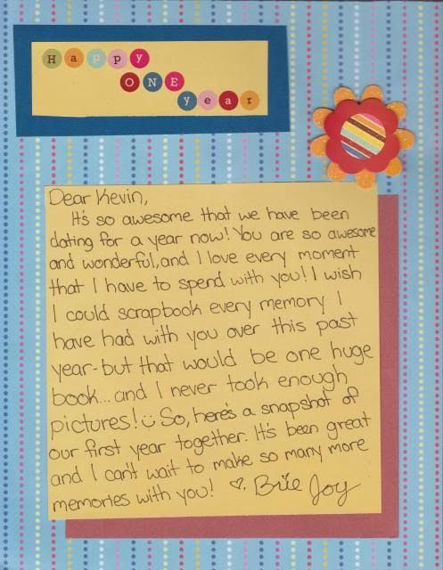 Our First Year Together - Scrapbook