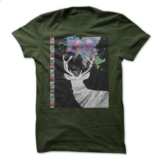 * Star Deer * Winter -Tribal - shirt design #hoodie #clothing