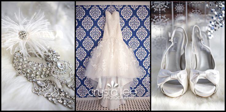 Winter wedding details. Bling bling!!