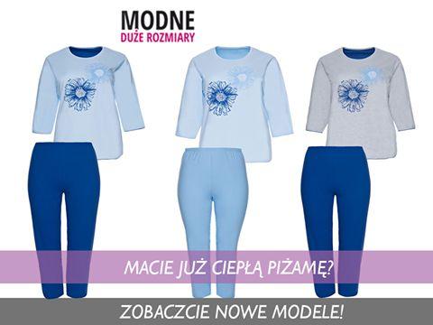 Macie już ciepłą piżamę? :D Zobaczcie na nowe i bawełniane komplety - bluzka z rękawem długości 7/8 oraz spodnie długości 7/8 wykończone jasnoniebieską lamówką 😍 Wszystkie wykonane bardzo starannie ;) Którą zamówicie? A może wybierzecie na prezent? (y) Kobaltowa piżama w kwiaty ▶️ http://bit.ly/2ggviQl Błękitna piżama w kwiaty ▶️ http://bit.ly/2gHLZ7F Szara piżama w kwiaty ▶️ http://bit.ly/2h27CDf