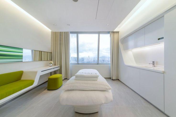 Iluminación interior en Centro de Estética Neo Derm / Beige Design Iluminación interior Neo Derm / Beige Design – Plataforma Arquitectura
