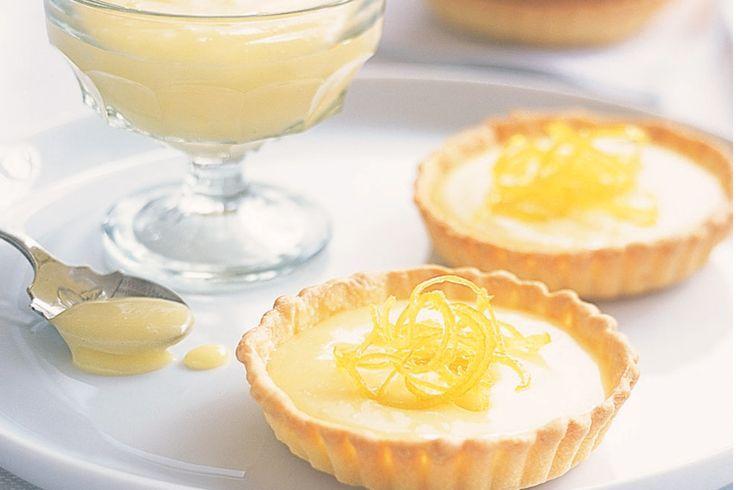 Lemon Curd Tartlets With Candied Lemon Rind Recipe - Taste.com.au