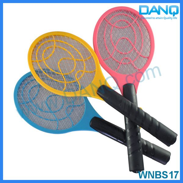 Three layers fly repellent, bug zapper, mosquito swatter, mosquito racket with CE-EMC