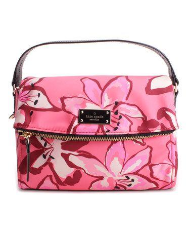 Love this Pink Floral Miri Black Avenue Satchel on #zulily! #zulilyfinds