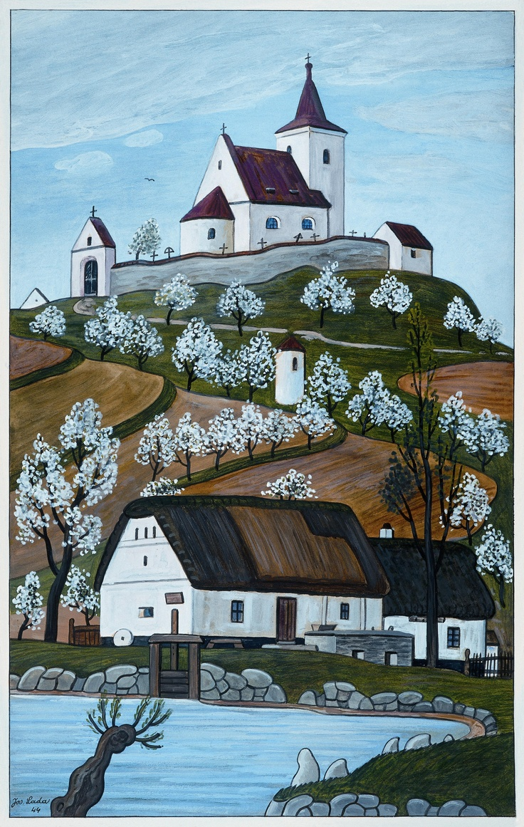 Czech ~ Josef Lada ~ House on a Hill