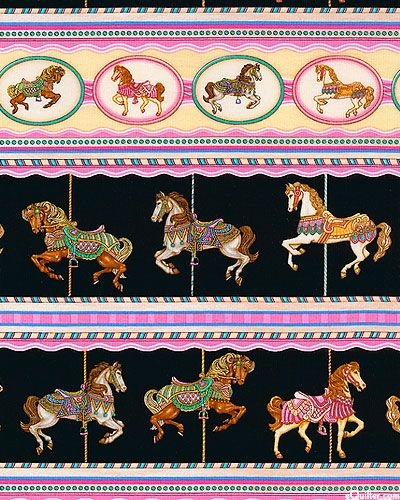 Painted Ponies - Magic Carousel Ride - Black