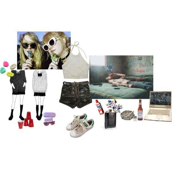 teenage dirtbag part2 by papawine on Polyvore featuring adidas, Nina Ricci, Ugo Cacciatori, Urban Outfitters and A2 by Aerosoles