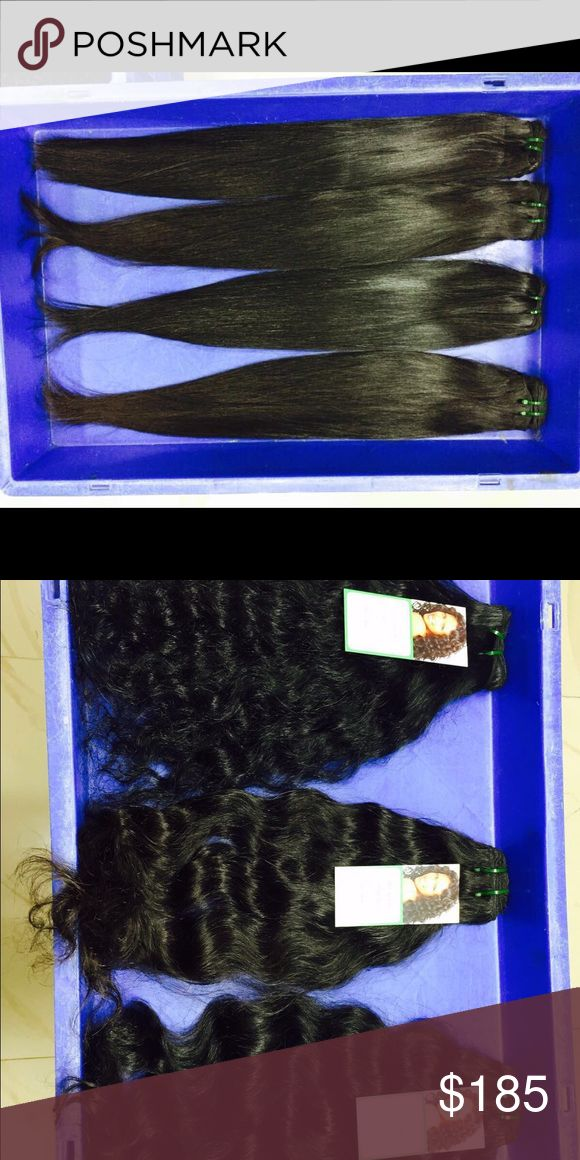 """⚡️Flash sale 184.00 Buy 1 get 1 Free Brazilian Ext We need Models fir reviews where offering a one time sale Buy 1 get 1 Free 18-22"""" 195.00 100% human hair extensions straight out of Brazil ( this hair is not mixed with synthetic hair (all custom made)** in styles of Natural straight, Deep wave and curly 😀we Carry lengths of 8-32  Simply inquire and we will let you know the price (we except no offers on our hair extensions prices are low enough for for quality DKNY Accessories Hair…"""
