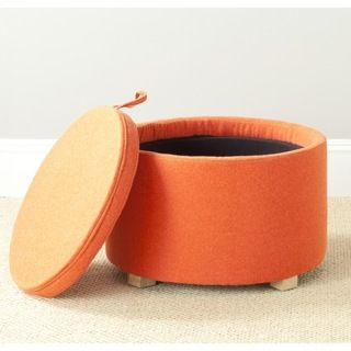 @Overstock.com - Safavieh Nevan Burnt Orange Oak Ottoman - Storage takes a fashionable turn with the round Nevan ottoman by Safavieh.  http://www.overstock.com/Home-Garden/Safavieh-Nevan-Burnt-Orange-Oak-Ottoman/8343903/product.html?CID=214117 $154.79