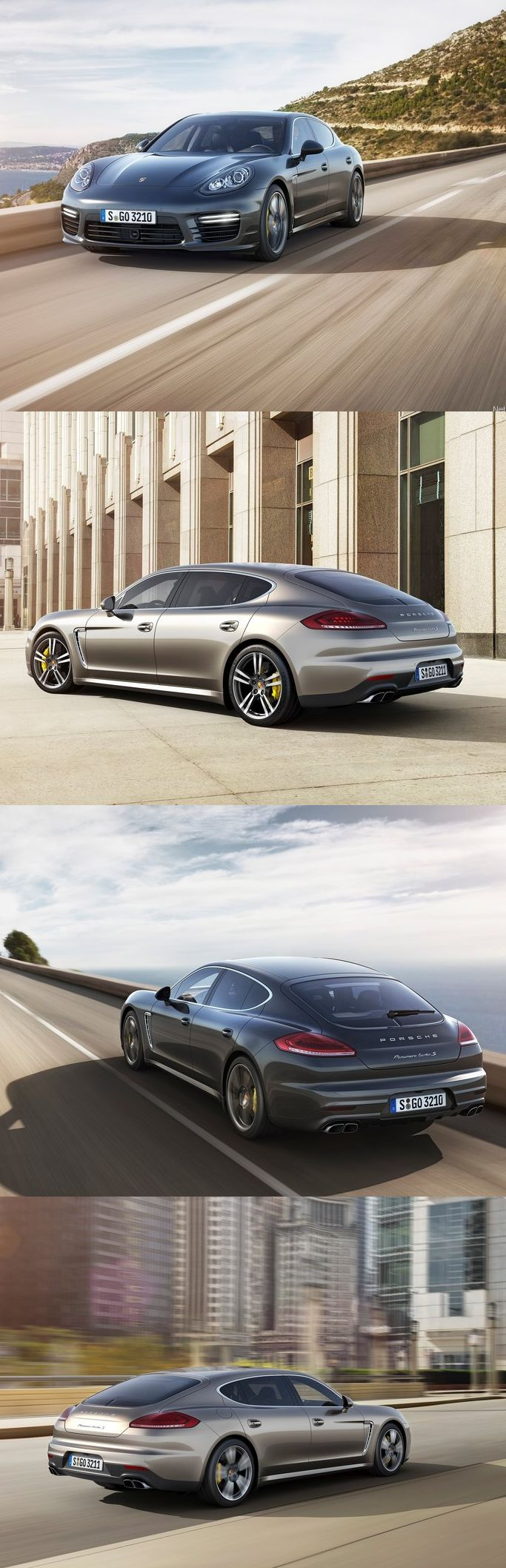Porsche revela Panamera Turbo S. With four doors, it can ALMOST be justified as a family car. That goes 130 MPH....