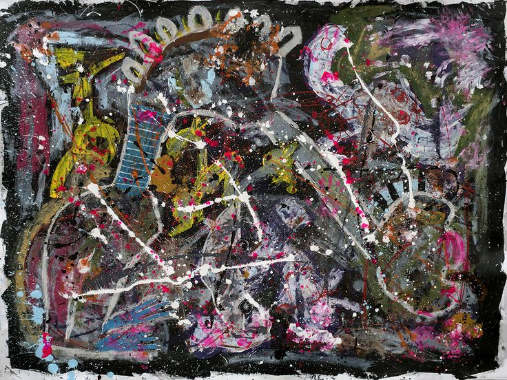 """November Spawned A Monster"" 2015 Acryl on canvas. Size: 195x145 cm"