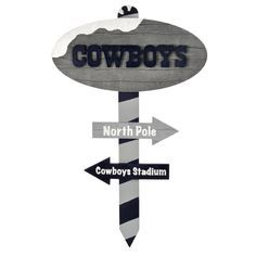 Dallas Cowboys North Pole Wood Sign | Dallas Cowboys Clothing | Dallas Cowboys Store - Dallas Cowboys Pro Shop