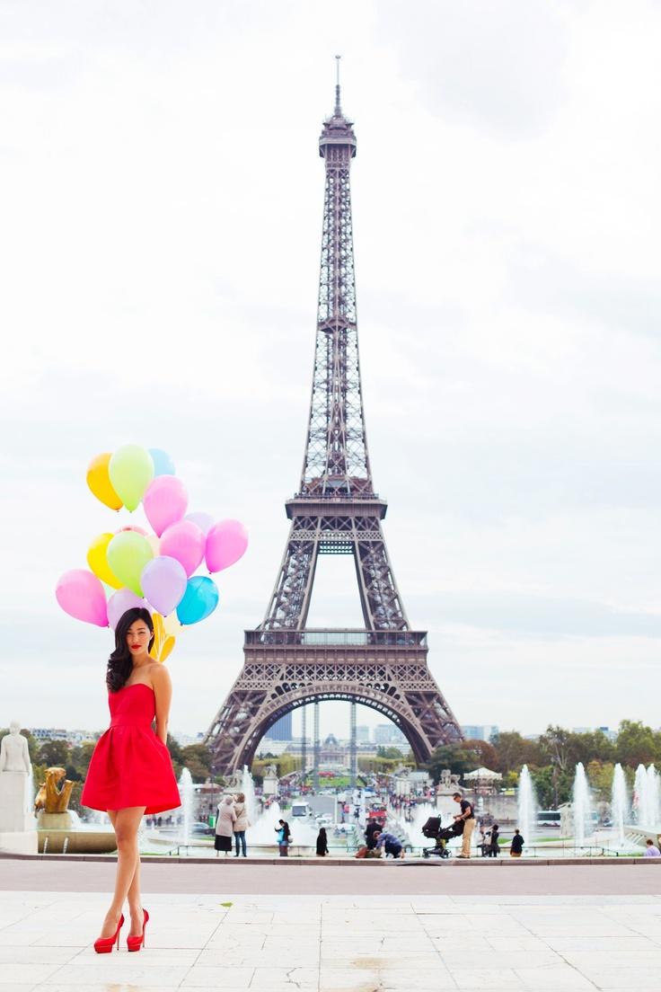 Colourful Balloons + Paris (Luke Shadbolt)