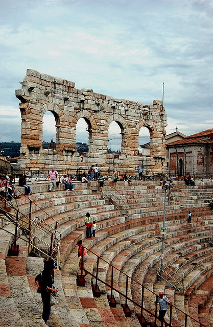 """Arena di Verona very nearly fell down the steps when I was there to see """"Nabuco"""". I'm forever grateful to the Italian man who grabbed me!"""