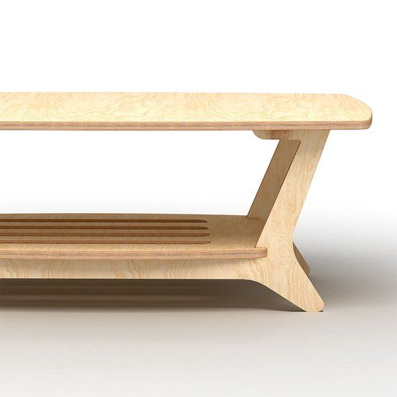 Coffee Tale With Shelves Cnc Furniture Plans Wood Furniture Design Plywood Coffee Table