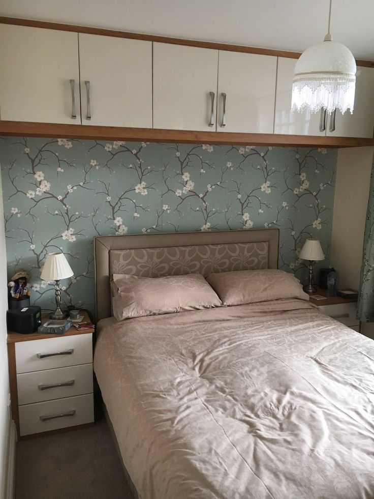 This Is Lovely Bespoke Bedroom Furniture. Gloss White Doors With Oak  Surround. Over Bed Storage U0026 Bedside Tables. Also, Matching Wardrobe   Take  A Look At ...