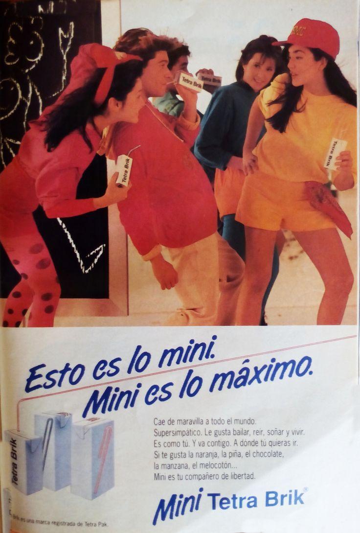 Publicidad Mini Tetra Brik año 1991.