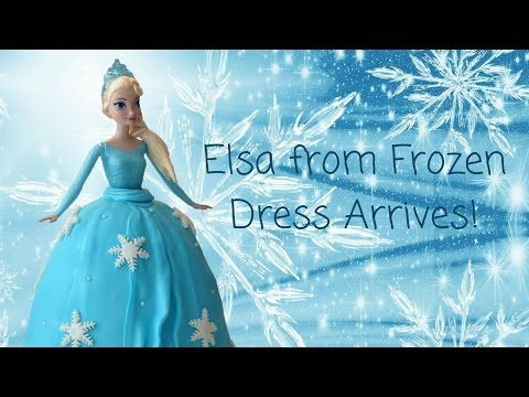 When my daughters Elsa from Frozen dress arrived she was over the moon! Here she is opening her package!  #ElsaDress #FrozenDress #Frozen #Elsa