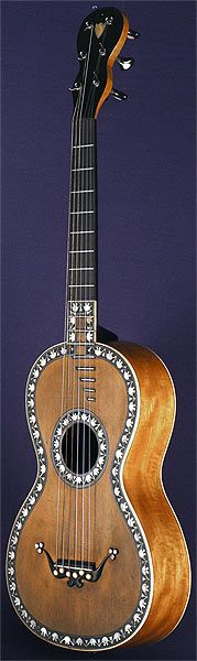 Early Musical Instruments, antique Romantic Guitar by Beau around 1820