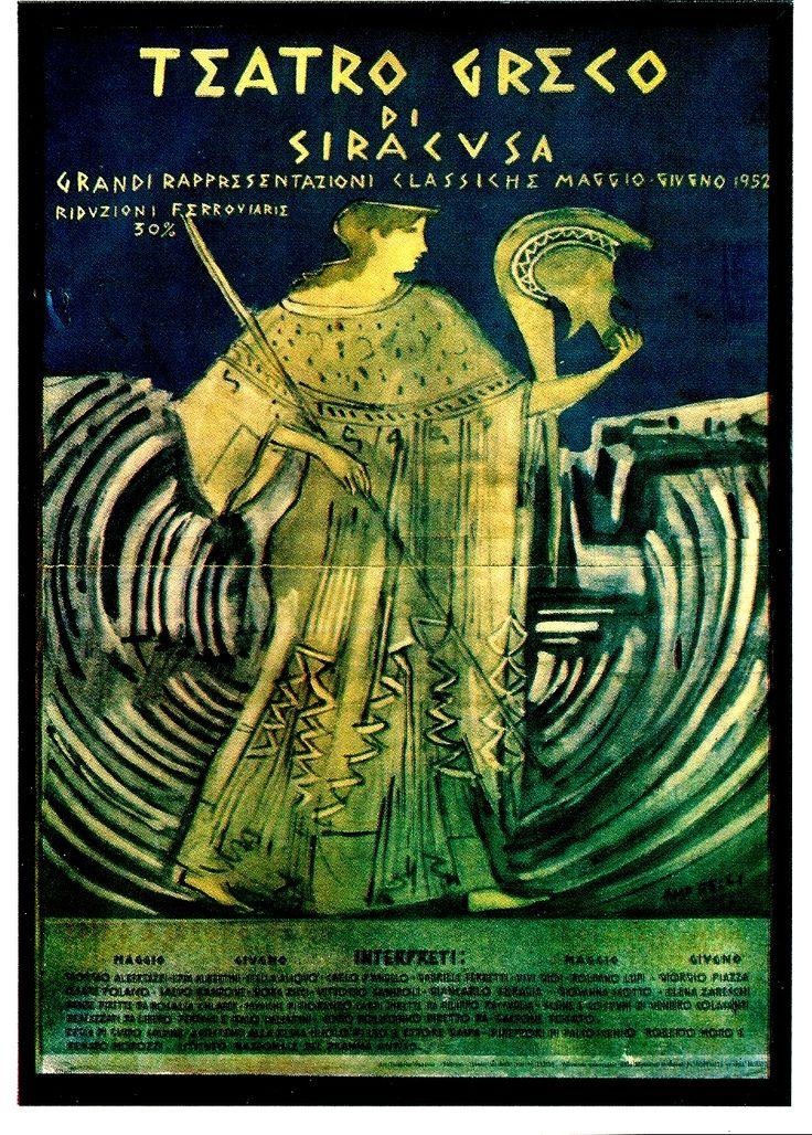 poster of Greek play - Taormina